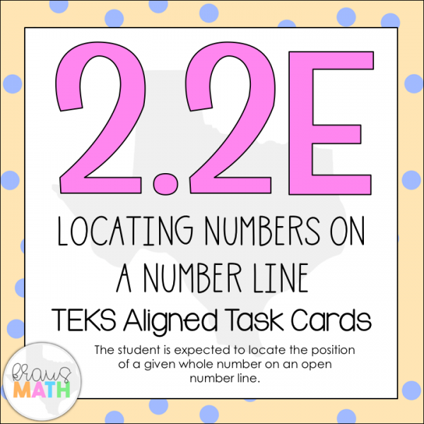 2.2E: Locating Numbers on a Number Line TEKS Aligned Task Cards | Kraus Math
