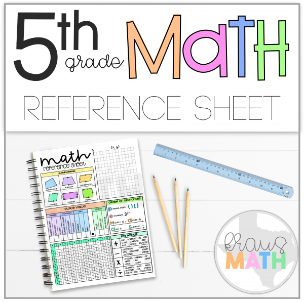 5th Grade Math Reference Sheet