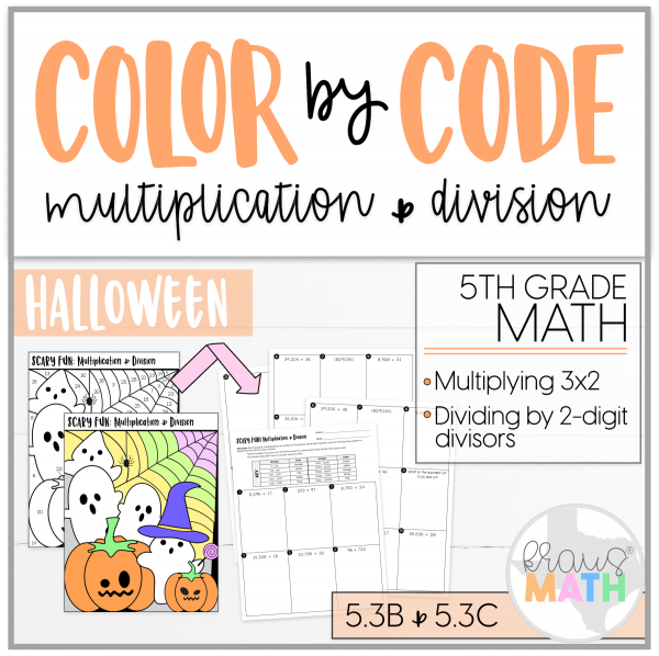 Halloween Color By Number Multiplication Division Grade 5 Kraus Math